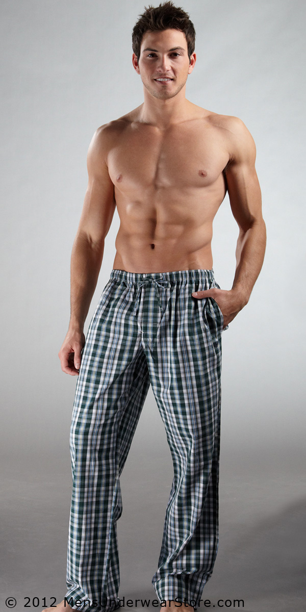 Emporio Armani Yarn Dyed Woven Pant