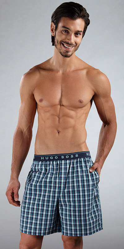 HUGO BOSS Plaid Lounge Shorts