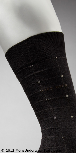 HUGO BOSS Grid Dress Sock