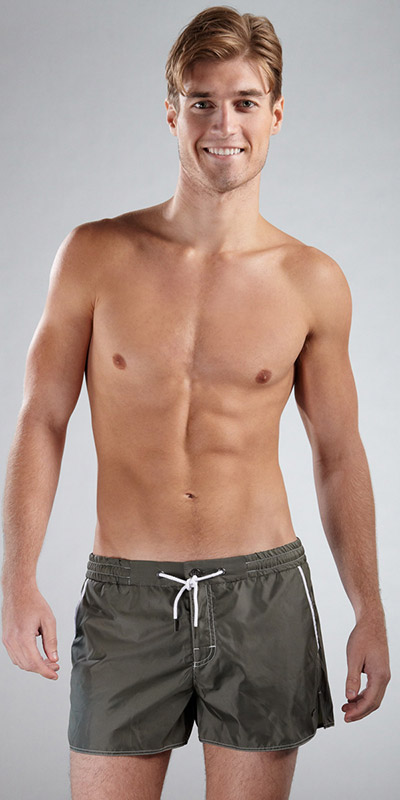 "Parke & Ronen Barcelona 2"" Solid Swim Trunk"
