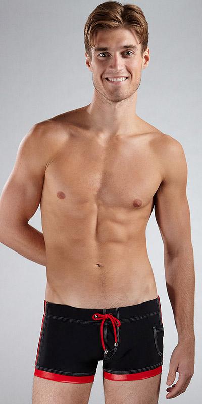 Tulio Sheen Square-Cut Swimsuit