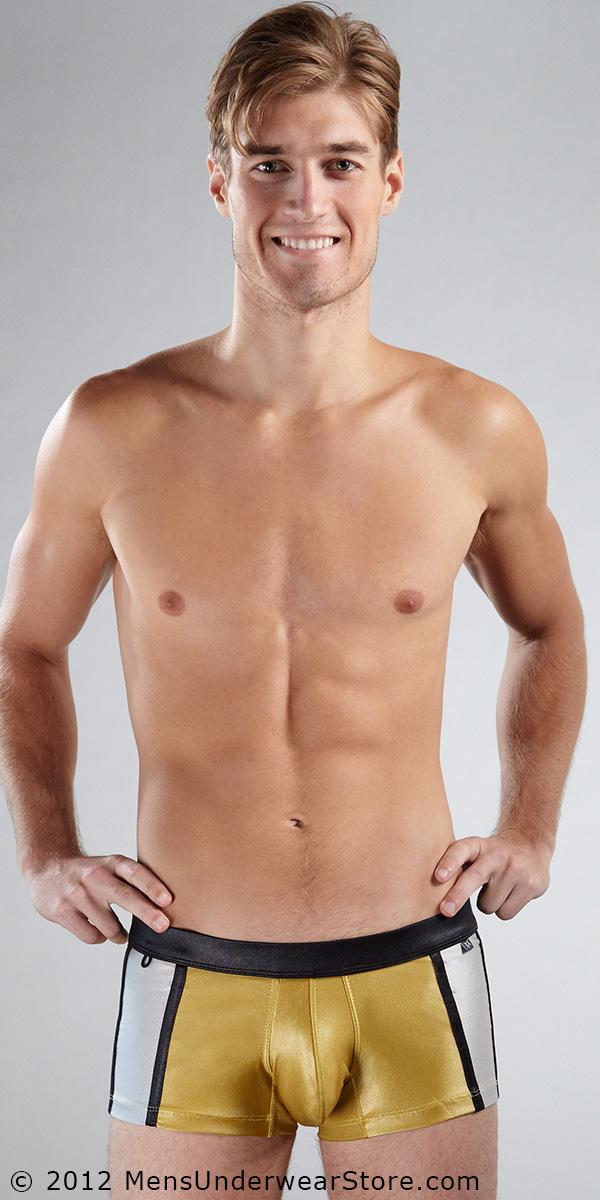 Tulio Metallic Square-Cut Swimsuit