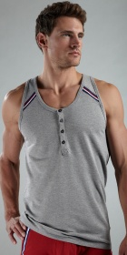 2XIST Athletic Button Tank