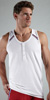 2XIST Athletic Button Tank Top