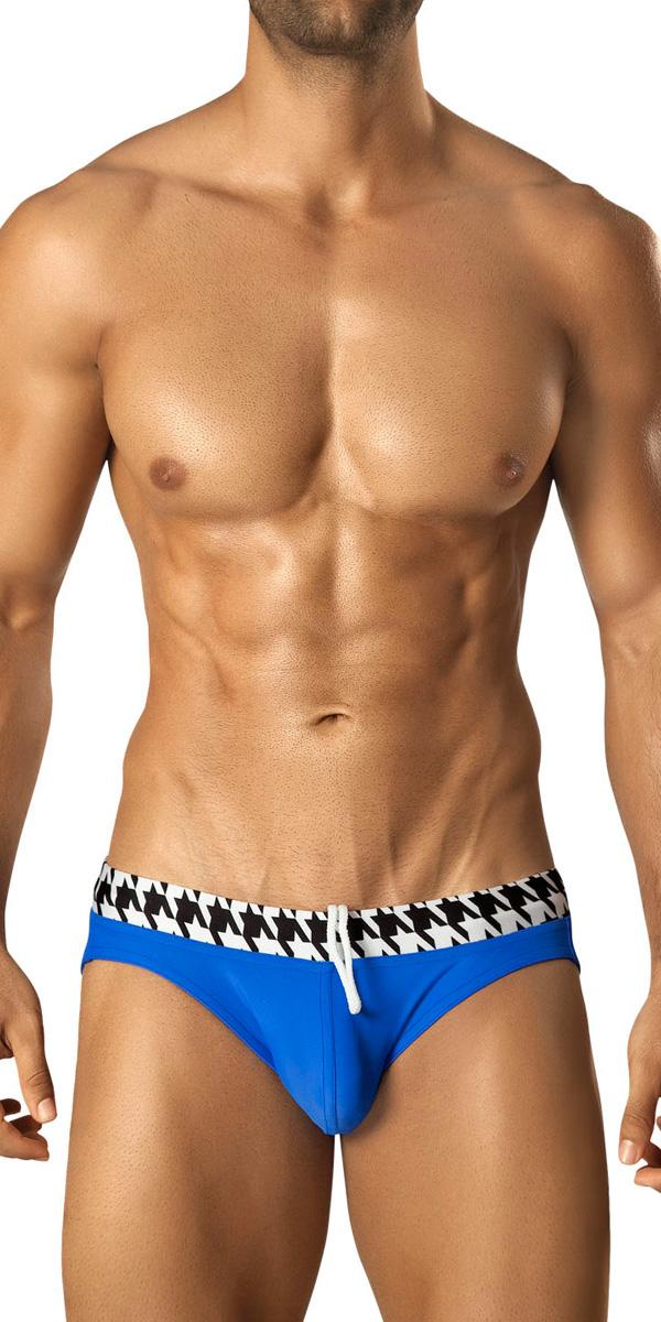 Vuthy Houndstooth Swim Bikini-Brief