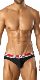 Vuthy Plaid Swim Bikini-Brief