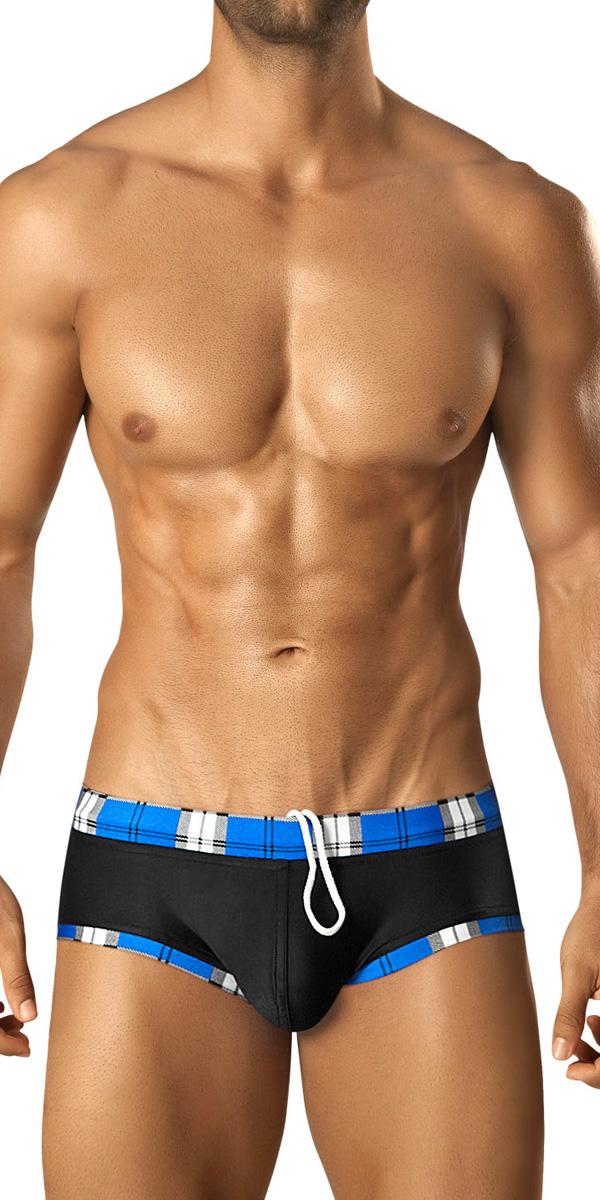 Vuthy Plaid Swim Brief