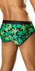 Vuthy Leaf Print Swim Brief