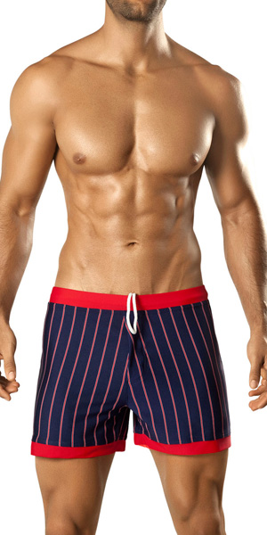 Vuthy Stripes Swim Shorts