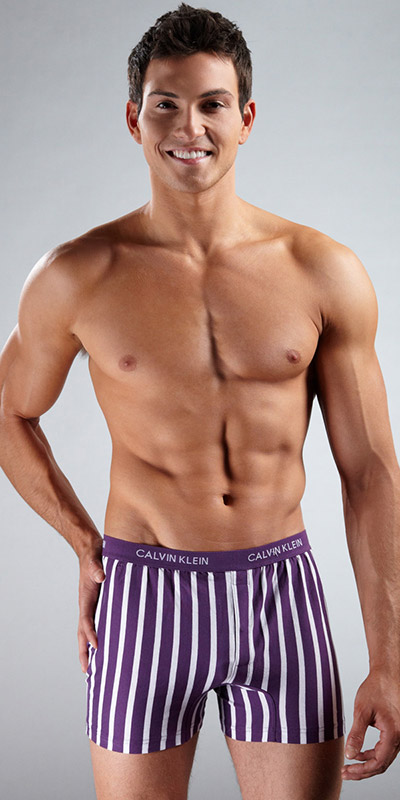 Calvin Klein Matrix Slim Fit Knit Boxer