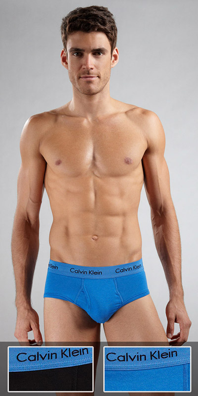 Calvin Klein Cotton Stretch 2-Pack Hip Briefs