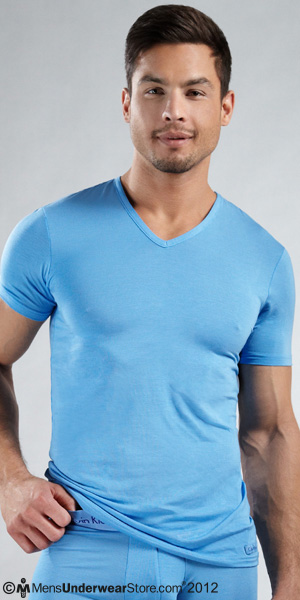 Calvin Klein Micro Modal Short Sleeve V-Neck