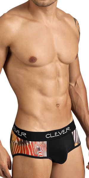 Clever Zebra Piping Brief