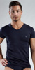 Emporio Armani Cotton Stretch Short Sleeve V-Neck