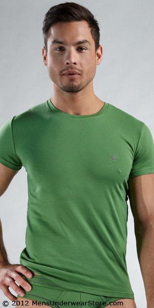 Emporio Armani Cotton Stretch Short Sleeve Crew