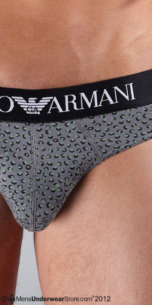 Emporio Armani Cotton Stretch Dots Brief