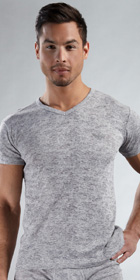 Emporio Armani Micro Cotton Burnout Short Sleeve V-Neck