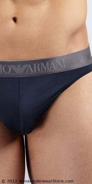 Emporio Armani Microfiber Stretch Basic Thong