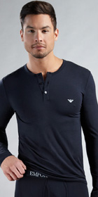 Emporio Armani Modal Long Sleeve Henley
