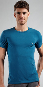 Emporio Armani Cotton Stretch Basic Short Sleeve Crew