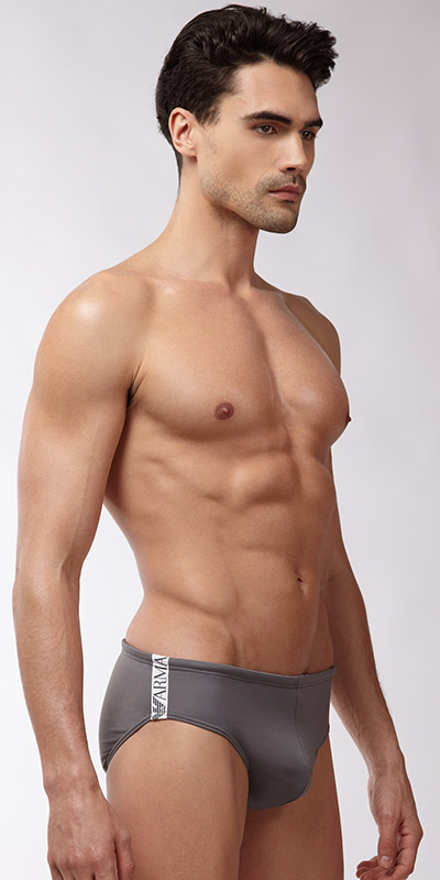 Emporio Armani Binding Logo Swim Brief