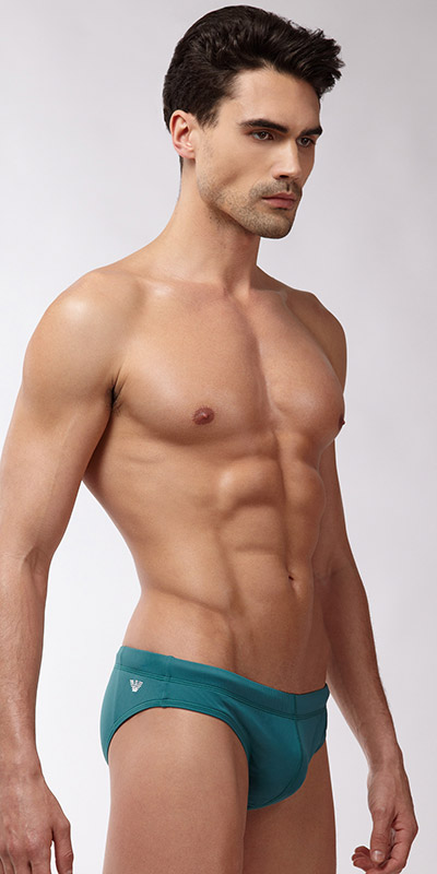 Emporio Armani Embroidery Swim Brief