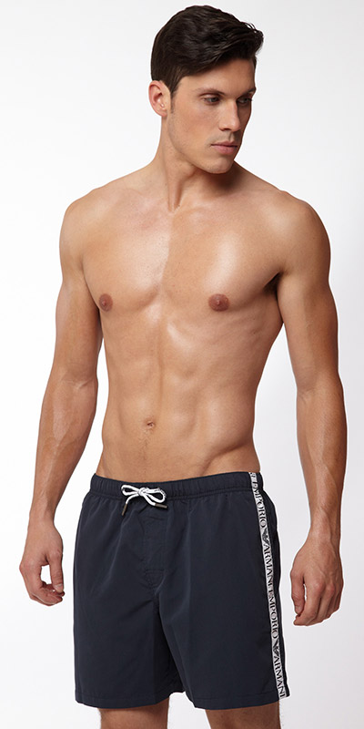Emporio Armani Binding Logo Swim Short