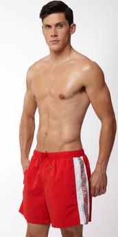 Emporio Armani Silver Binding Swim Short