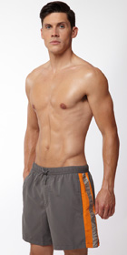Emporio Armani Silver Binding Swim Short