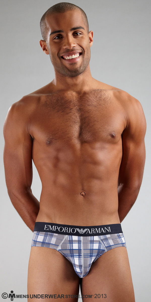 Emporio Armani Printed Stretch Cotton Brief