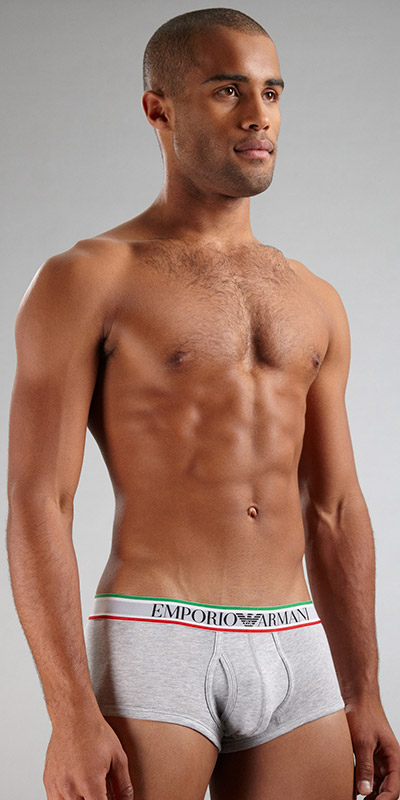 Emporio Armani Little Italy Stretch Cotton Boxer Trunk