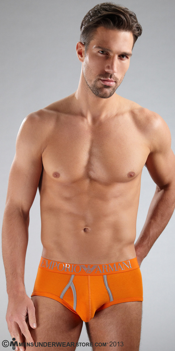 Emporio Armani Contrast Colour Stretch Cotton Mid Brief