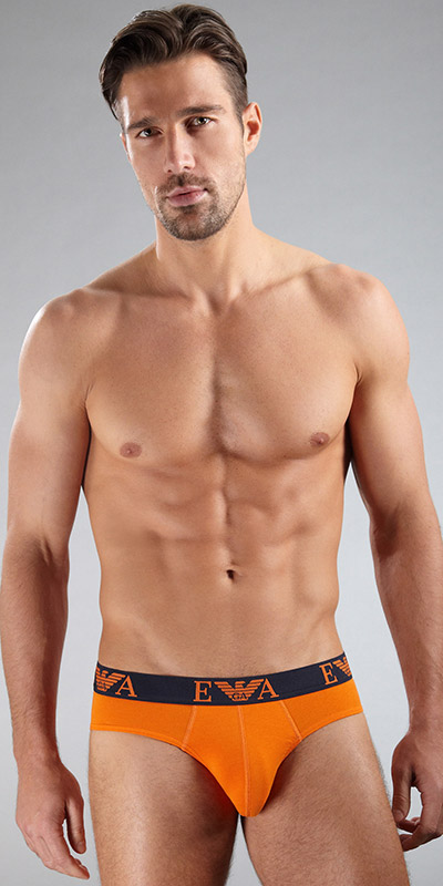 Emporio Armani Embossed Stretch Cotton Brief