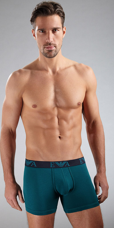 Emporio Armani Embossed Stetch Cotton Boxer Briefs