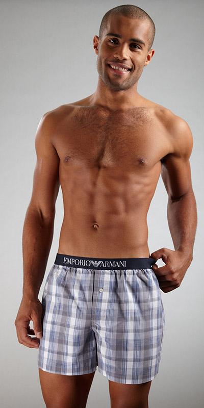 Emporio Armani Woven Cotton Boxer