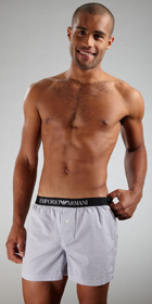 Emporio Armani Woven Cotton Boxer