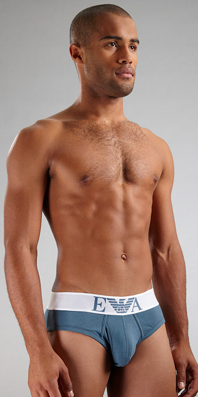 Emporio Armani Stretch Cotton Eagle Brief
