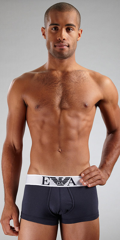 Emporio Armani Stretch Cotton Eagle Trunk
