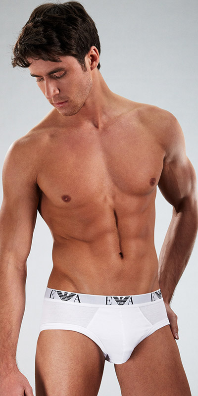 Emporio Armani Genuine Cotton 3-Pack Brief