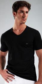 Emporio Armani Genuine Cotton 3-Pack V-Neck Shirt