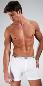 Emporio Armani Genuine Cotton 3-Pack Button Boxer