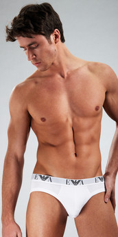 Emporio Armani Genuine Cotton 3-Pack Hip Briefs
