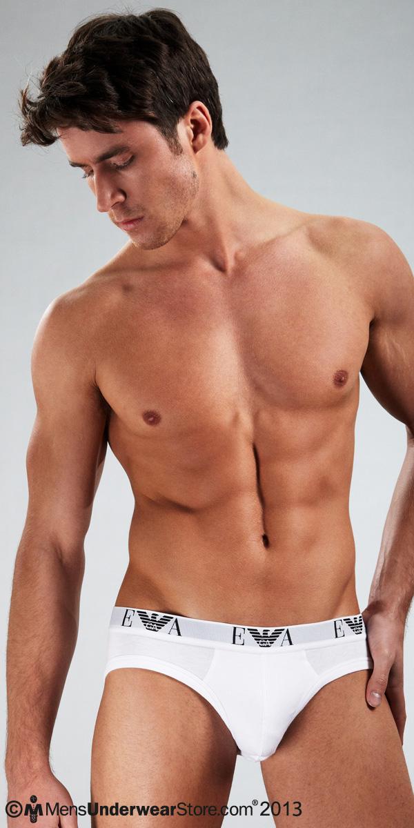 Emporio Armani Genuine Cotton 3-Pack Hip Briefs