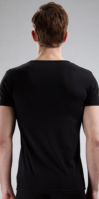 Emporio Armani Stretch Cotton V-Neck T-Shirt