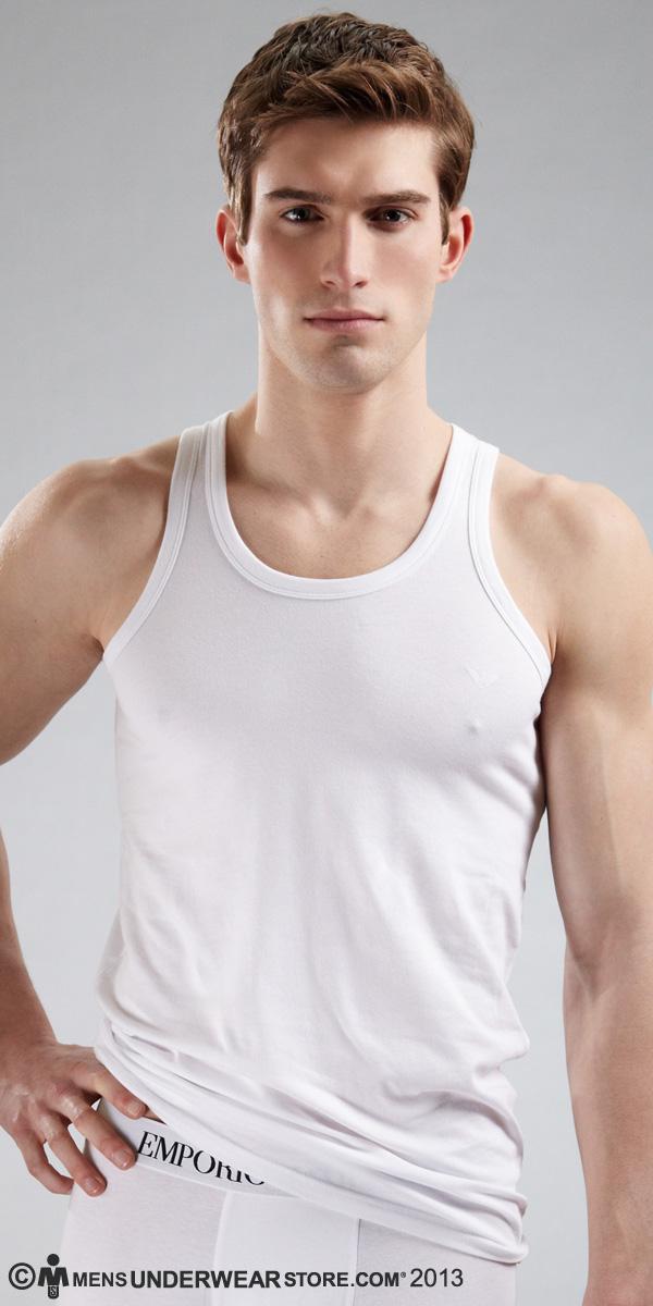 Emporio Armani Stretch Cotton Tank Top