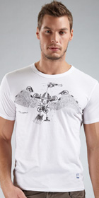 G-Star RAW Crane Print Crew Short Sleeve Shirt