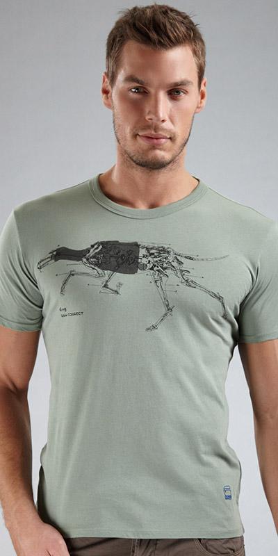 G-Star RAW Greyhound Print Crew Short Sleeve Shirt