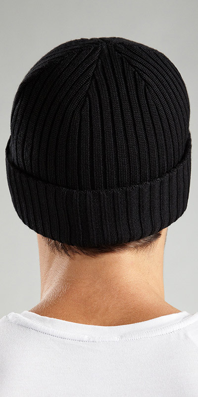 HUGO BOSS Ribbed Cap Medium Gauge