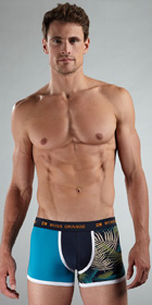 BOSS Orange Print Block Boxer Trunk