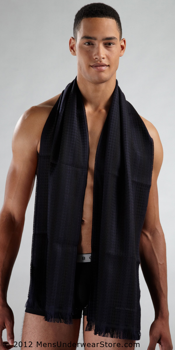 HUGO BOSS Signature Hounds Tooth Scarf